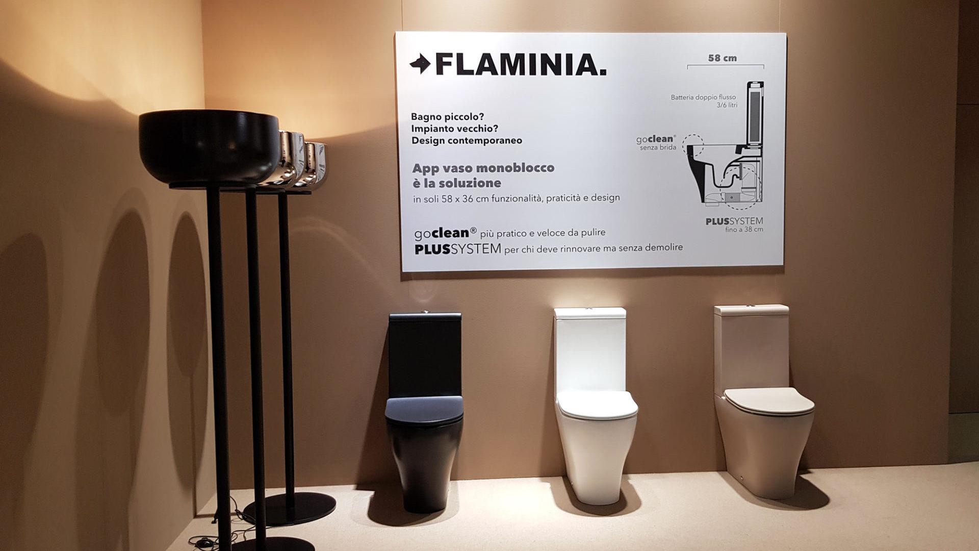 Nuovo modello di wc monoblocco salvaspazio