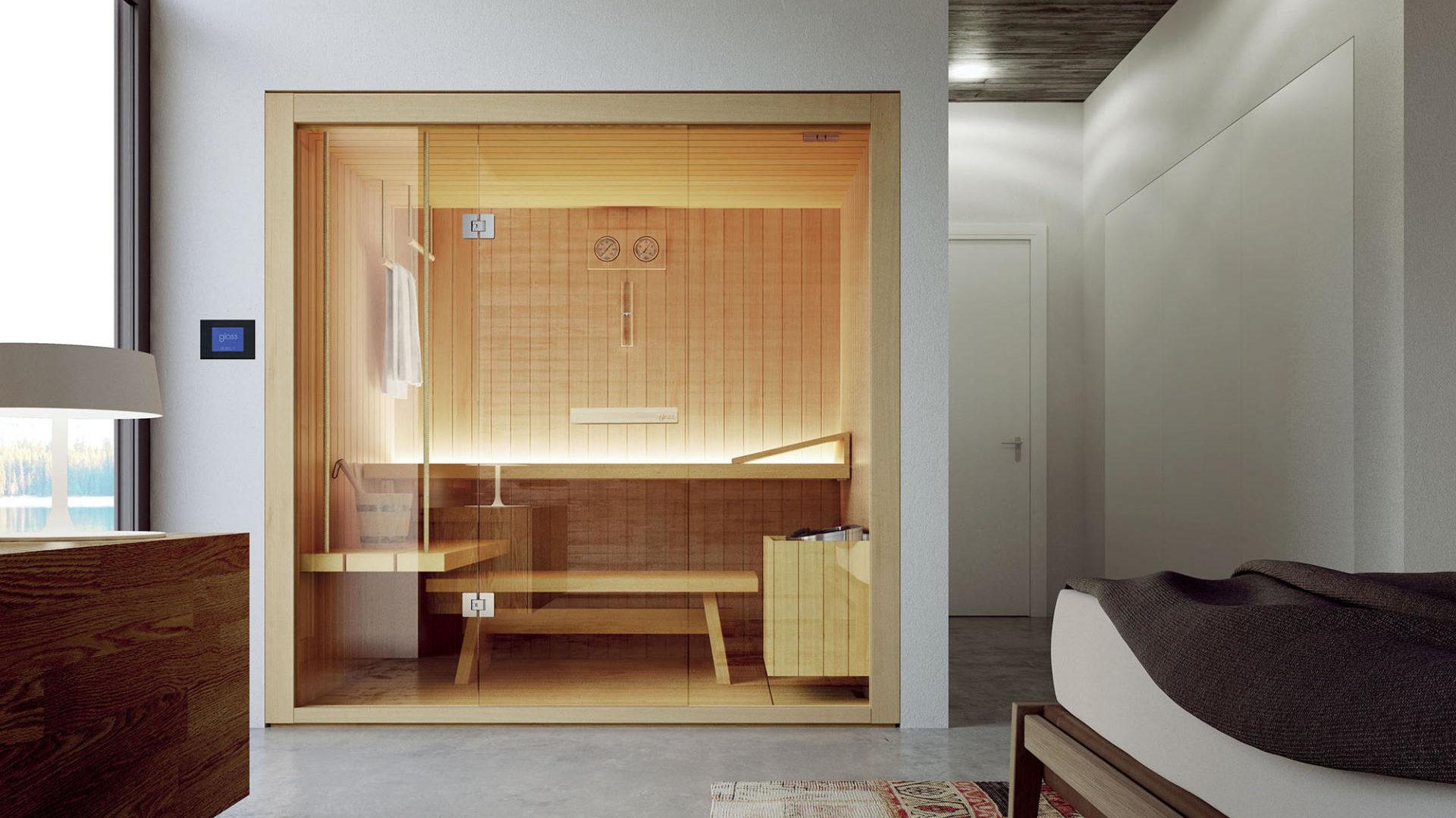 Sauna finlandese Rope in legno hemlock