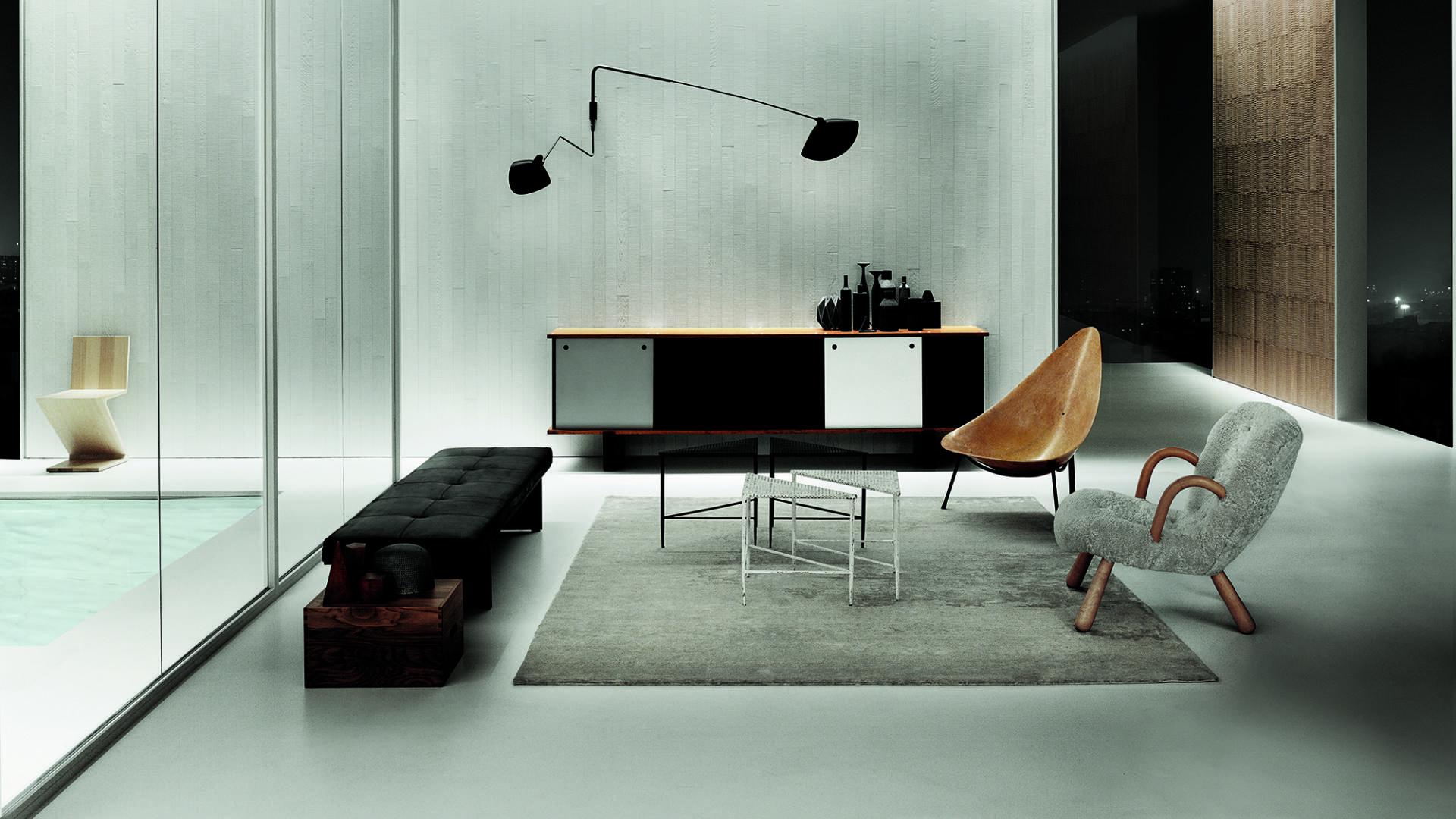 materie e colori coordinati per l'interior design