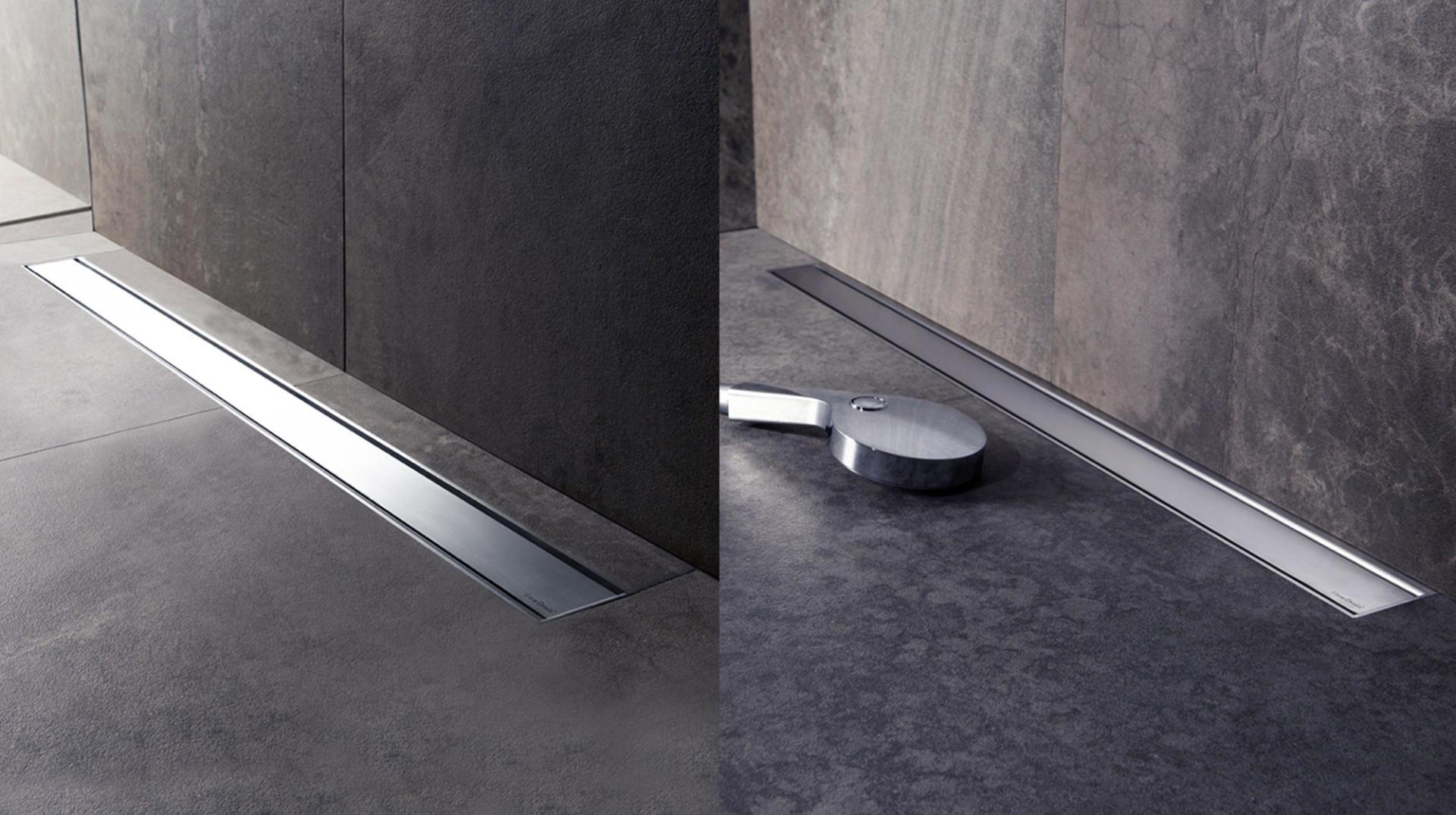 canalina a pavimento Modulo Taf con griglia in acciaio