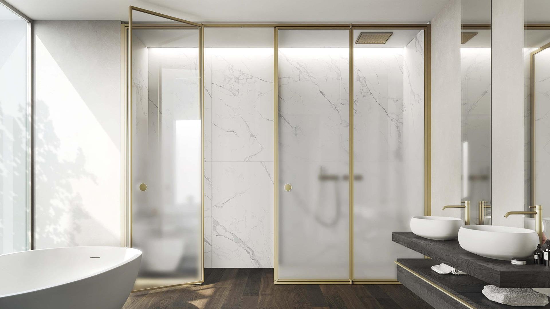 SUITE: sistema di pareti in cristallo e alluminio