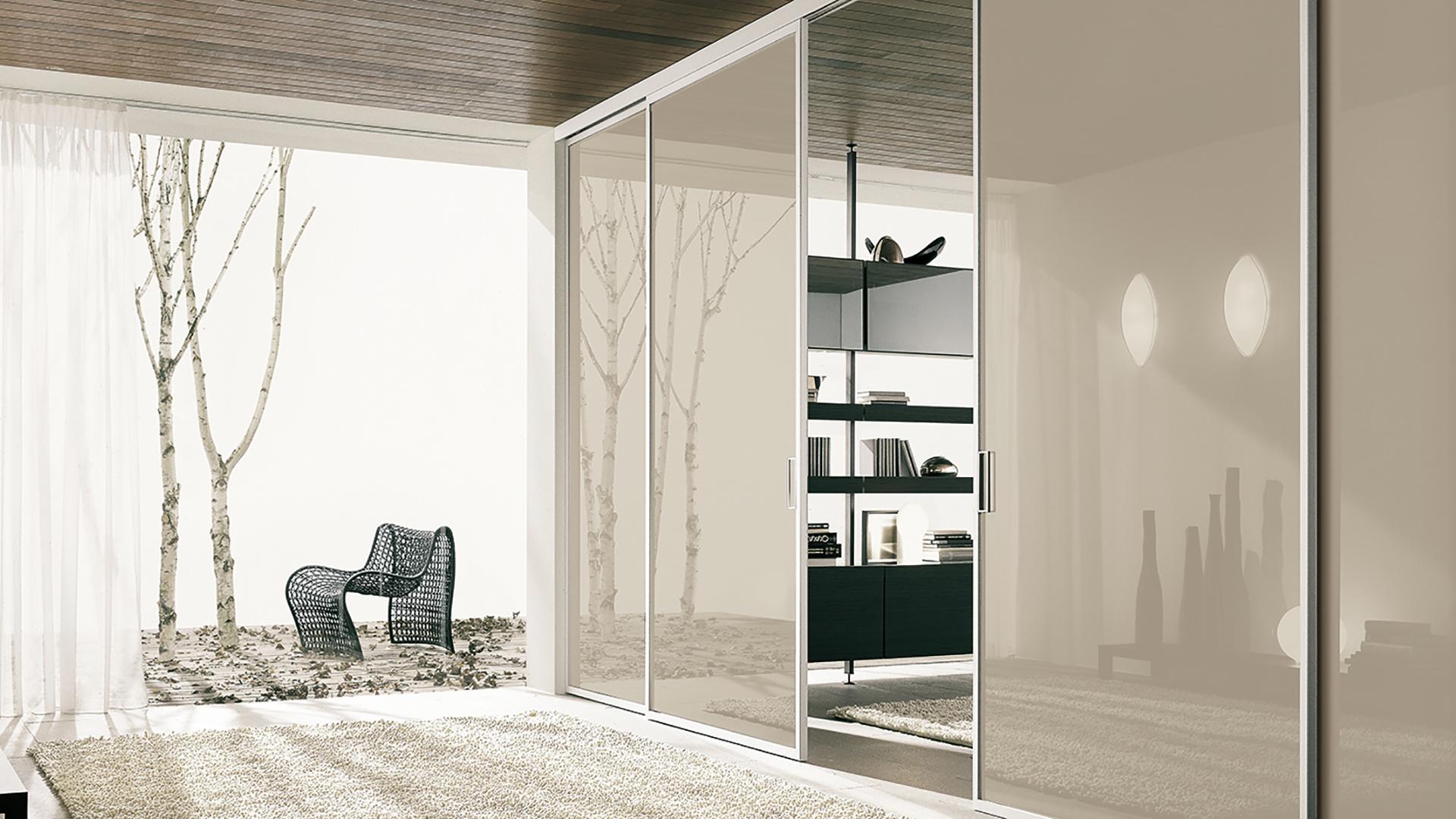 Porte e pareti Vetro-Alluminio
