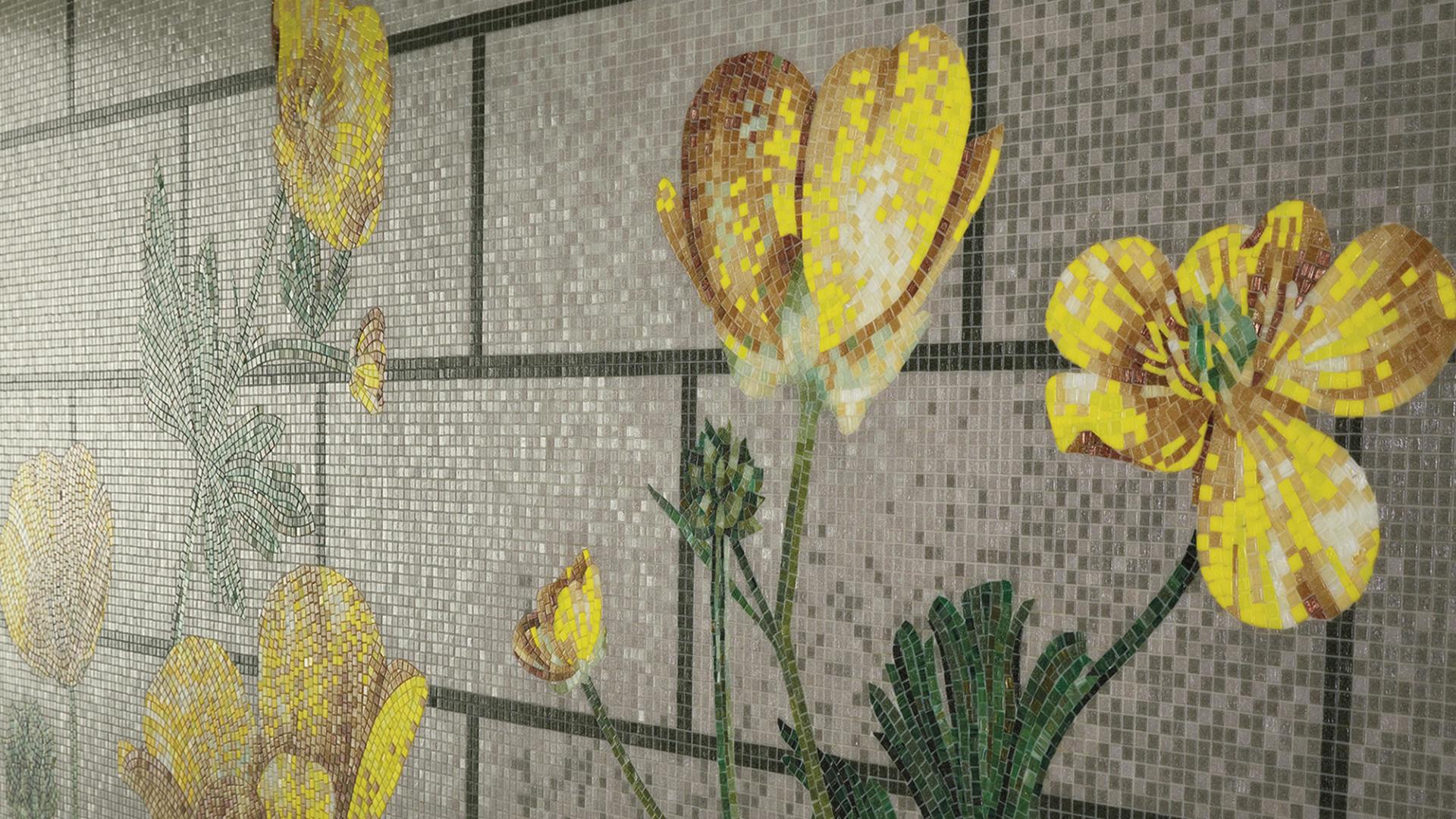 Mosaico con decoro floreale Ranunculus design KIKI VAN EIJK