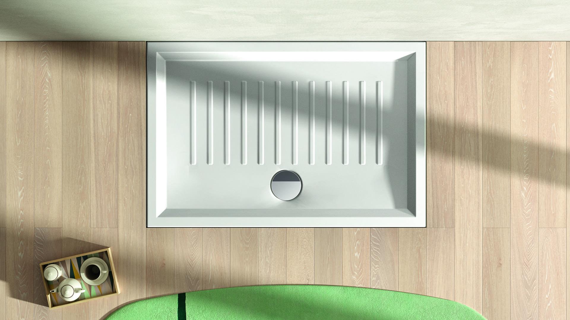 Piatto doccia in ceramica Verso, h.6cm