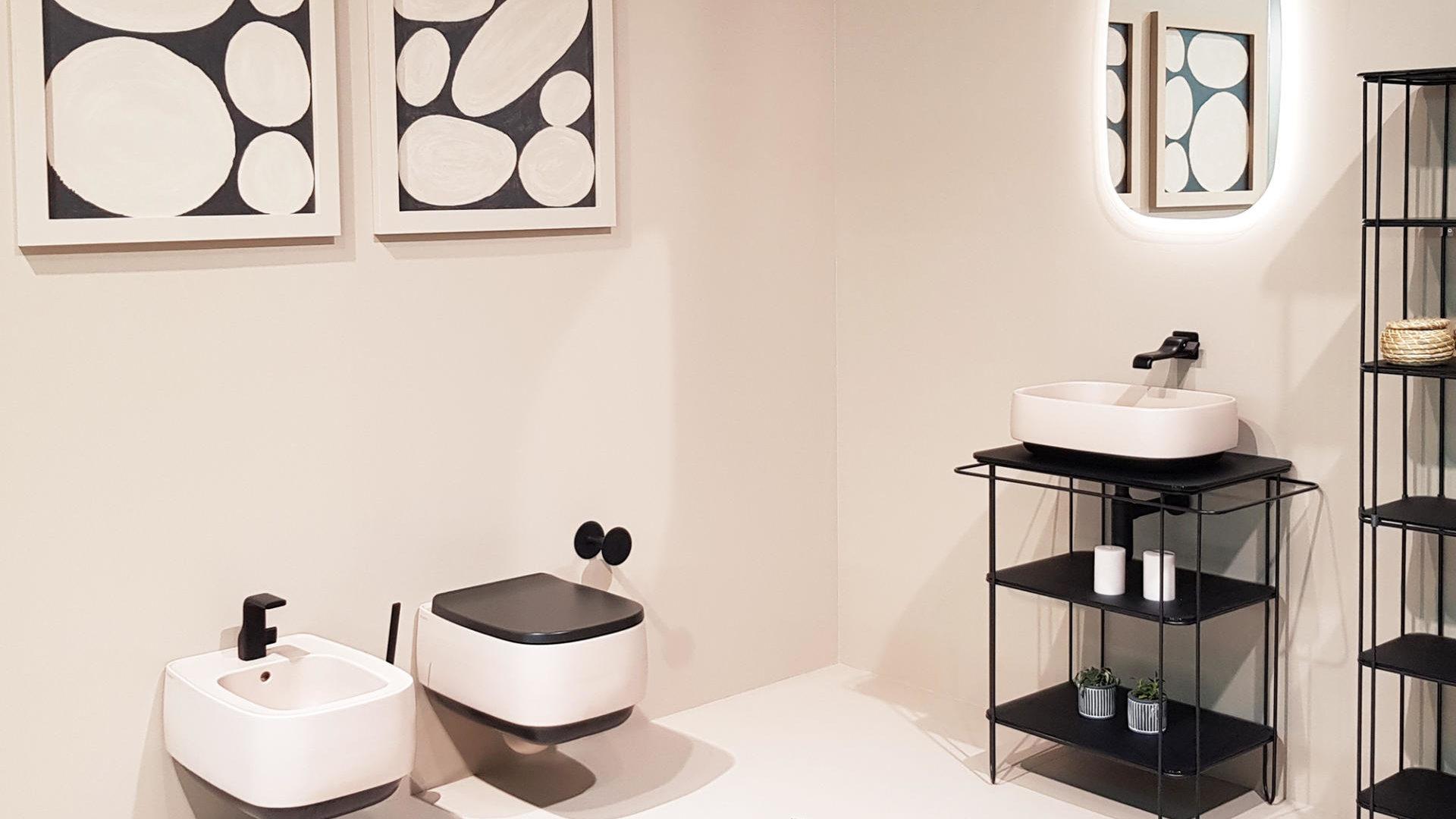 Sanitari e lavabo bicolor